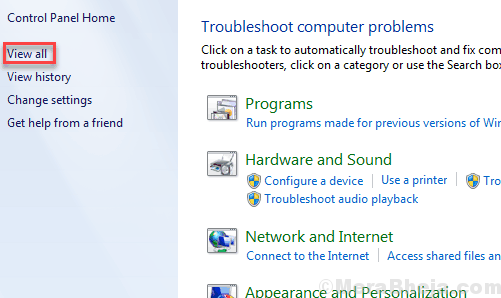 View All Troubleshooting