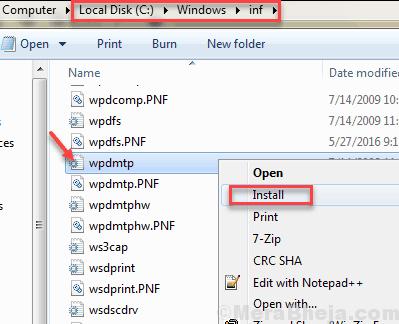 Fix MTP Not Working in Windows 10