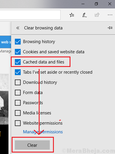Clear Cached Data And Files