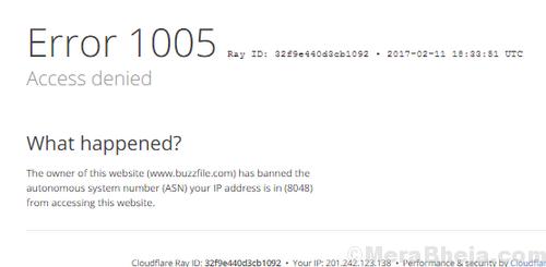 Error 1005 'access Denied'