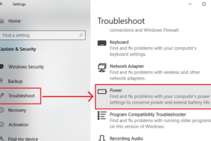 Power Troubleshooter