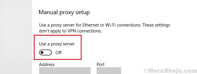 Proxy Server Settings 1