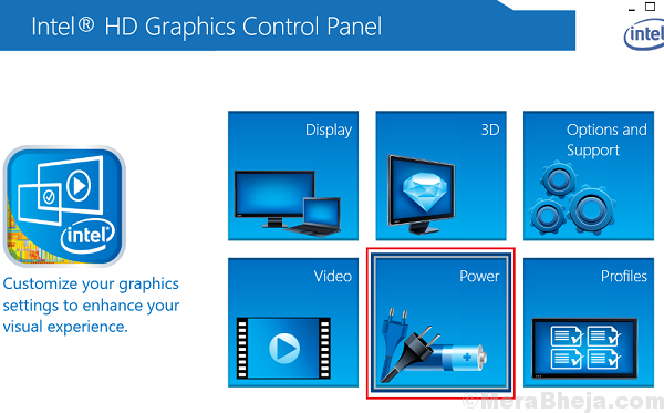 Select Power Option In Graphic Control Panel