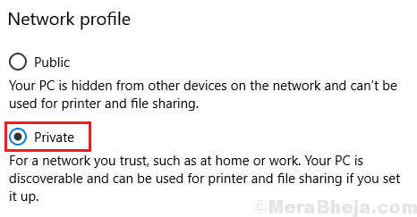 Set Network Profile To Private