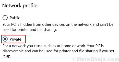 Set Network Profile To Private