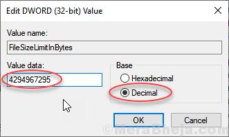 Filelimitsize Valuedata Regedit