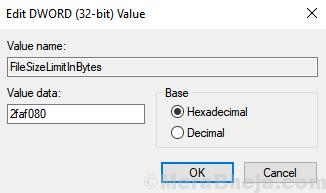 Hexadecimal Value Data File Size Bytes ]