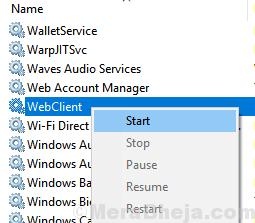 Webclinet Restart