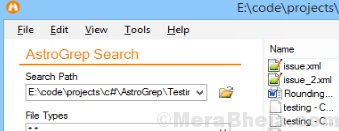 Astro Grep Search
