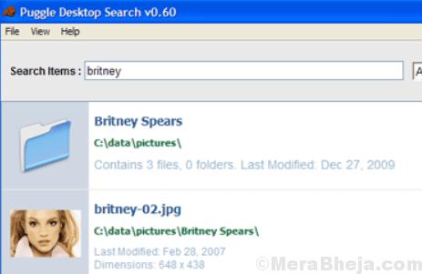 Puggle Desktop Search