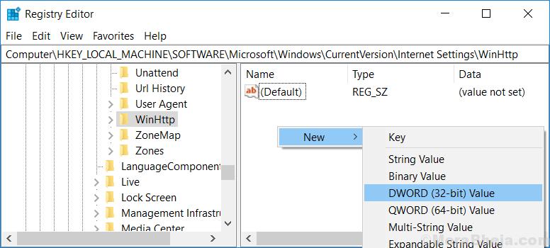 Edit New Dword Value Min