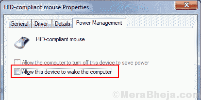 Allow Mouse To Wake Pc Uncheck