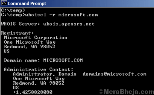 Nirsoft Whois Cl
