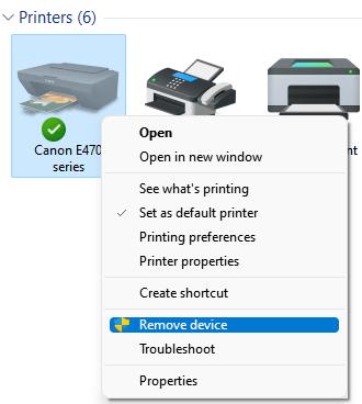 Remove Device Printer Min
