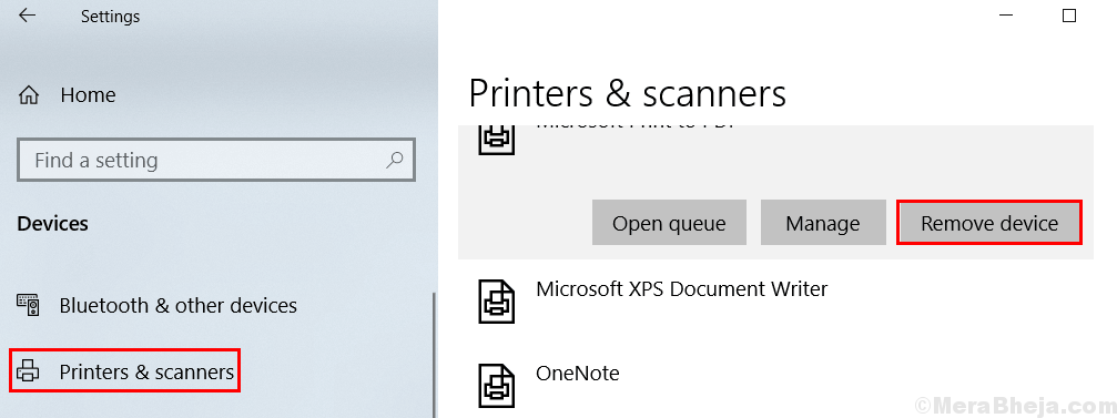 Remove Printer Min