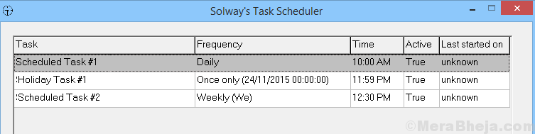 Solways Task Scheduler