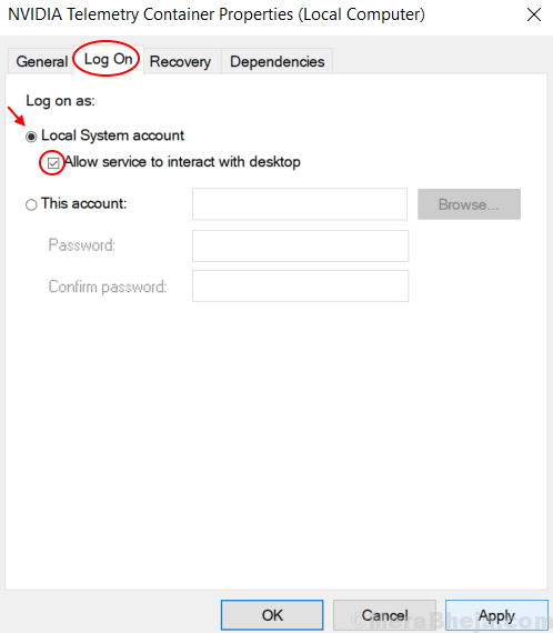 Allow Local Services To Interact With Desktop Min