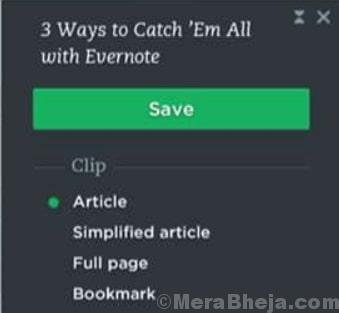 Evernote Edge Extension Min