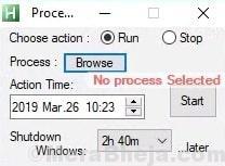 Process Timer Min