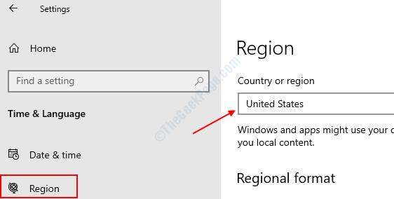 Region United States