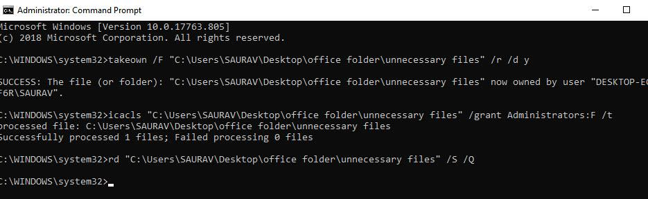 Cmd Delete Folder Can Not Delete