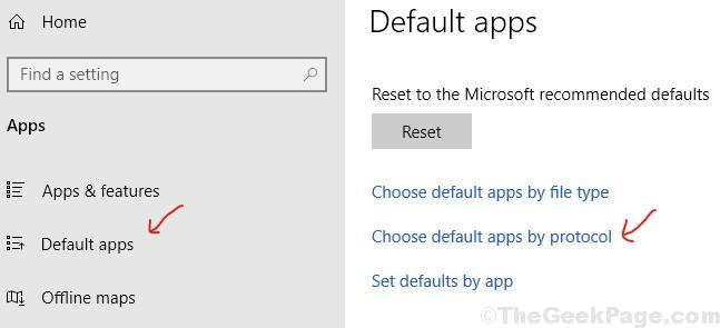 Default Apps By Protocol