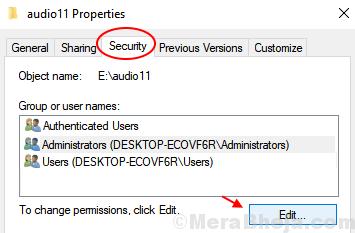 Edit Security System