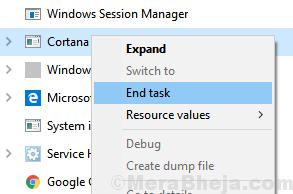 End Task Cortana Min