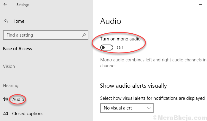 Mono Audio Disable Windows 10 Min