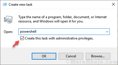Open Powershell Admin Min