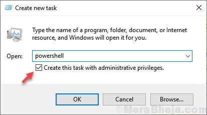 Open Powershell Admin Min