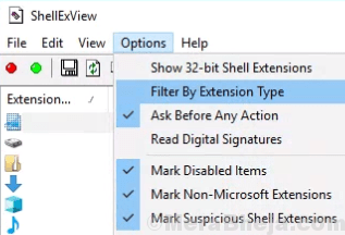 Option Filter Extension Type Min