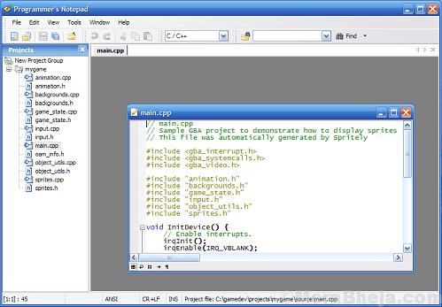 Programmers Notepad Min