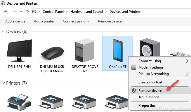 Remove Device Min
