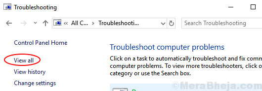 View All Troubleshooting Min