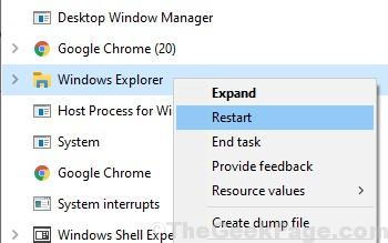 Windows Explorer Restart