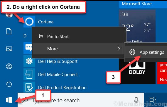App Settings Cortana Min