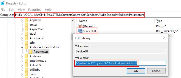 Audio Not Reposnding Reg Fix Min