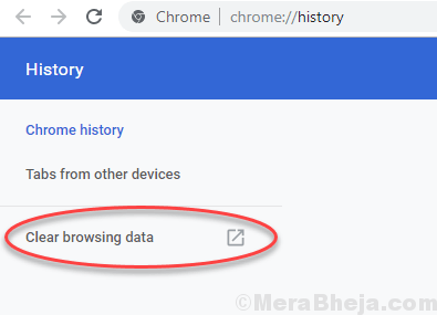 Clear Browsing Chrome Data Min