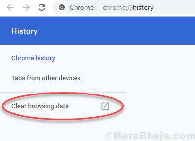 Clear Browsing Chrome Data Min