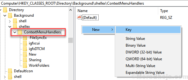 Context Menu Handlers New Key Min