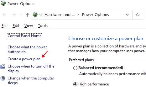 Create Power Plan Min