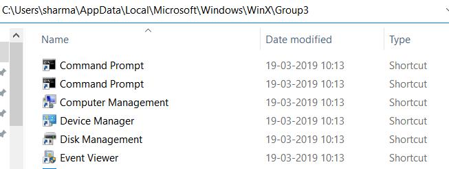 Create Shortcut Winx