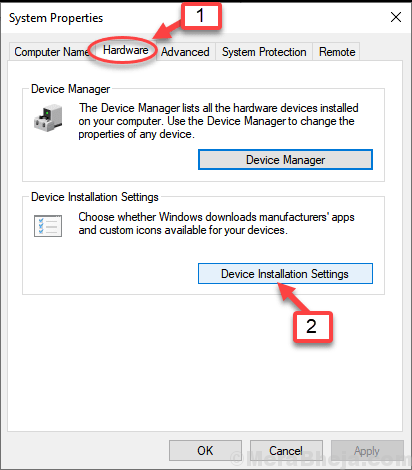 Device Installation Settings Min Min