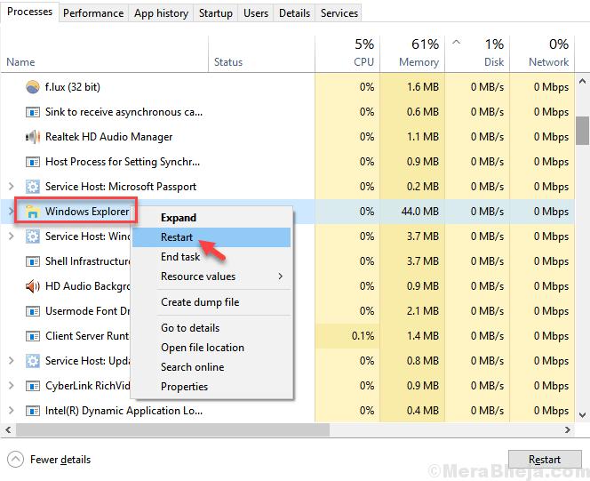 Restart Windows Explorer Min