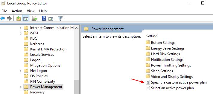 Specify Custom Min