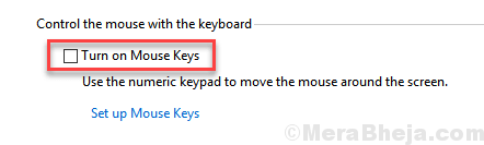 Turn On Mouse Keys Windows 10 Uncheck Min