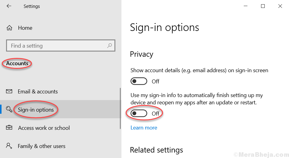 Use Sign In Info Windows 10 Augto Open Apps Min
