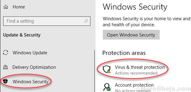 Virus Threat Protection Min