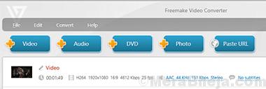 Freemake Video Converter Min